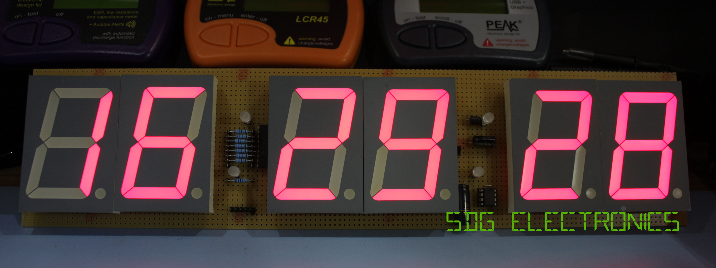 6 Digit Led Clock Sdg Electronics Arduino 7 Segment Display Wiring On Circuit Diagram I Recently Found Six 23 Red