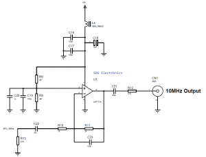 10MHz OCXO Output Amplifier