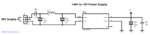 XP Power 48V to 5V DC-DC