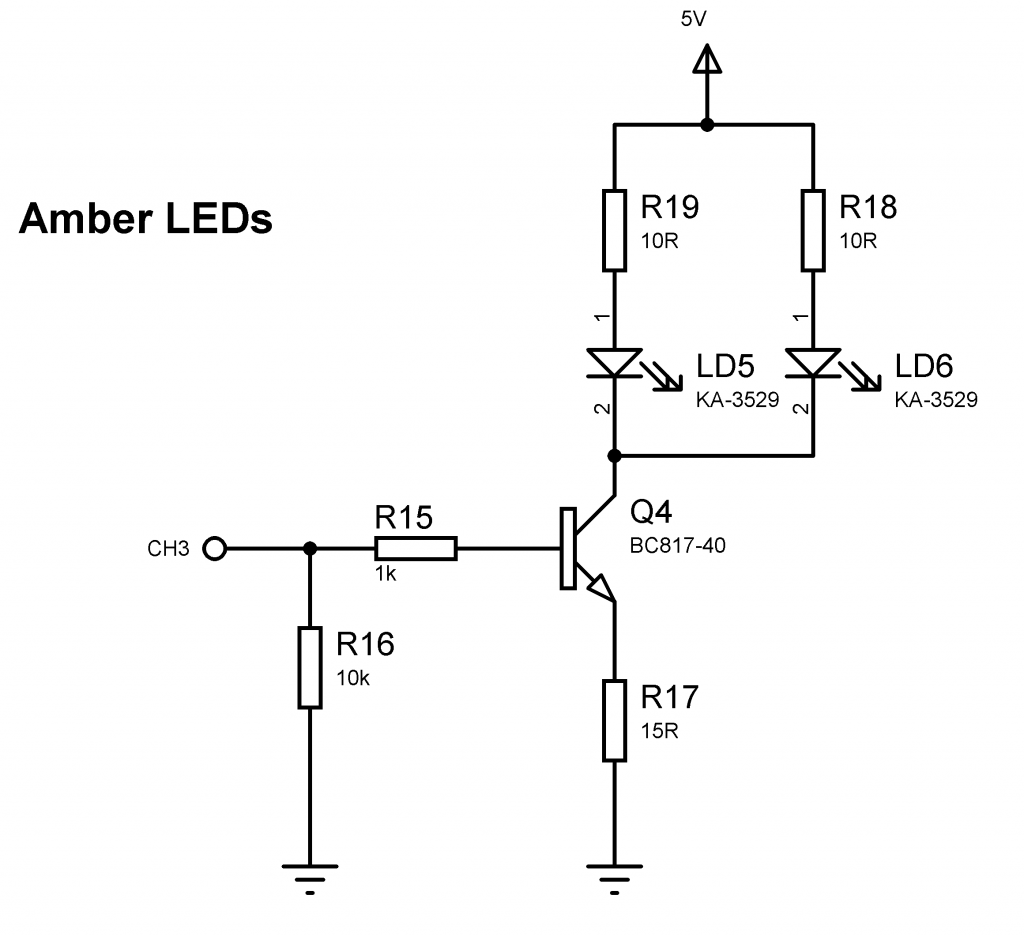 Amber and Red LED Driver